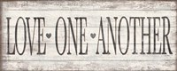 Love One Another Wood Sign Fine-Art Print