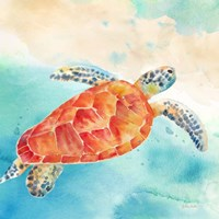 Sea Splash Sea Turtle Fine-Art Print