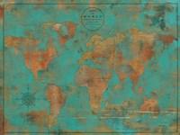 Rustic World Map Fine-Art Print
