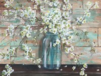Blossoms in Mason Jar Fine-Art Print