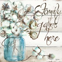 Cotton Boll Mason Jar I Family Fine-Art Print