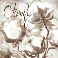 Cotton Boll Triptych Sentiment III (Family) Fine-Art Print