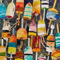 Buoy Collage Square Fine-Art Print