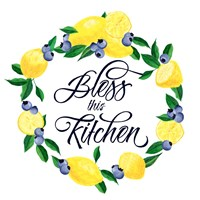 Lemon Blueberry Kitchen Sign I Fine-Art Print