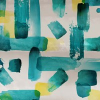 Aqua Abstract Square I Fine-Art Print