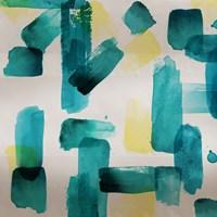 Aqua Abstract Square II Fine-Art Print