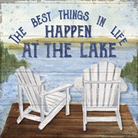 Lake Living I (best things) Fine-Art Print
