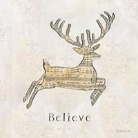 Vintage Christmas Believe Fine-Art Print
