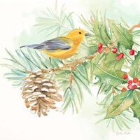 Winter Birds I Warbler Fine-Art Print