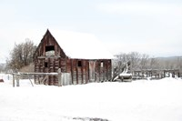 Winter Barn Landscape Fine-Art Print