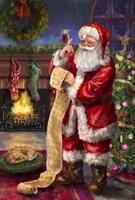 Santa with his list Fine-Art Print