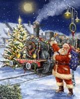 Santa and Black Train Fine-Art Print