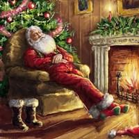 Santa asleep in Chair Fine-Art Print