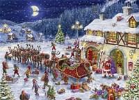 Santa Sleigh and big moon Fine-Art Print