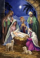 Holy Family with 3 Kings Fine-Art Print