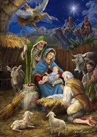 Mary and the Shepards Fine-Art Print