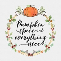 Pumpkin Spice Sentiment II Fine-Art Print