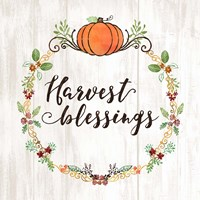 Pumpkin Spice Harvest Blessings Fine-Art Print