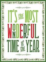 Colorful Christmas with border IV Fine-Art Print