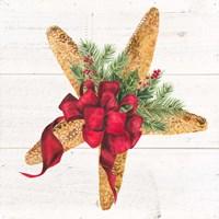 Christmas by the Sea Starfish square Fine-Art Print