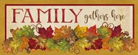 Fall Harvest Family Gathers Here sign Fine-Art Print