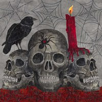Something Wicked 3 Skulls Fine-Art Print