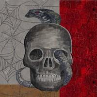 Something Wicked Skull Framed Print