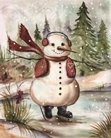 Country Snowman III Fine-Art Print