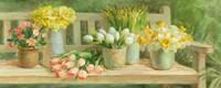 Spring Garden Bench Fine-Art Print