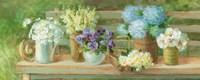 Summer Garden Bench Fine-Art Print