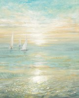 Sunrise Sailboats I Fine-Art Print