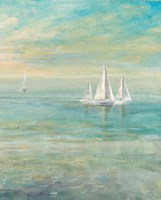 Sunrise Sailboats II Fine-Art Print