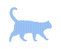 Dot Pattern Cat - Blue Fine-Art Print