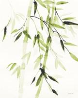 Bamboo Leaves V Green Fine-Art Print