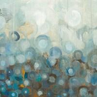 Blue and Bronze Dots VIII Fine-Art Print