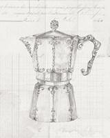 Authentic Coffee III White Gray Fine-Art Print