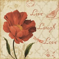 Live Laugh Love Sq Fine-Art Print