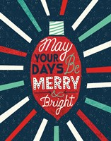 Festive Holiday Light Bulb Merry and Bright Fine-Art Print