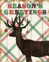 Simple Living Holiday Deer Framed Print
