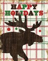 Simple Living Holiday Moose Framed Print