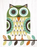 Folk Lodge Owl Earth Fine-Art Print
