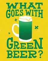 Green Beer Cake I Fine-Art Print
