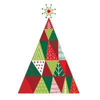 Geometric Holiday Trees I Fine-Art Print