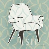 Retro Chair I Sit Fine-Art Print