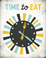Retro Diner Time to Eat Clock Fine-Art Print