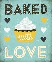 Retro Diner Baked with Love Fine-Art Print