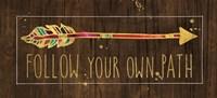 Beautiful Arrows III on Wood Fine-Art Print