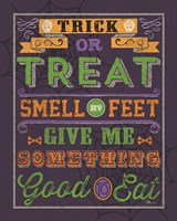 Halloween Talk I Color Purple Fine-Art Print
