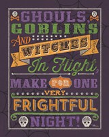 Halloween Talk II Color Purple Fine-Art Print