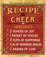 Holiday Recipe I Gold and Red Fine-Art Print